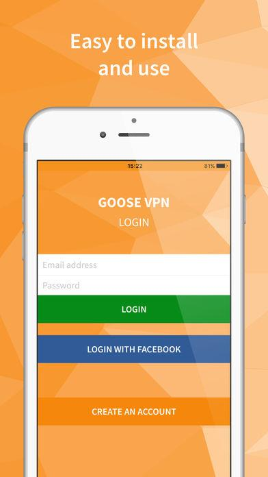 GOOSE VPN - Imagem 2 do software