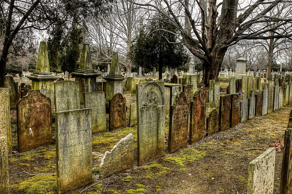 Cemitério lápide
