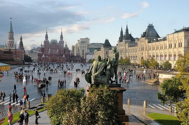 Praça Vermelha, em Moscou