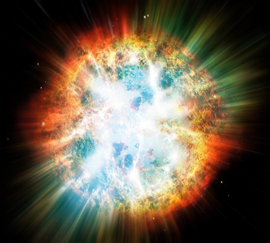 Representação de uma supernova
