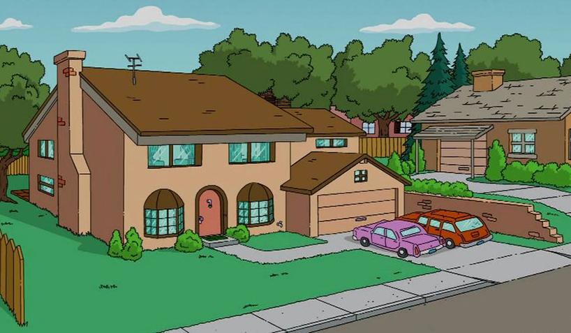 Como a casa dos simpsons seria em outros estilos for Evergreen terrace 742