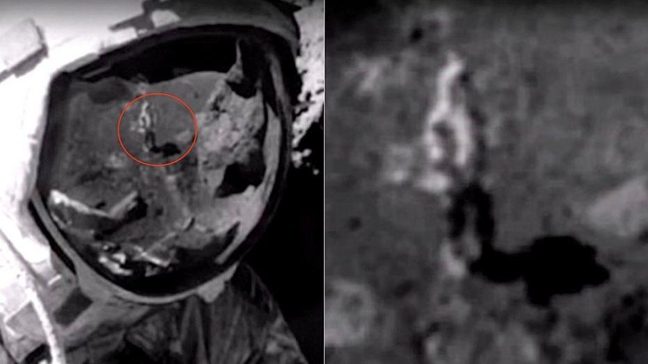 Reflexo em visor de astronauta