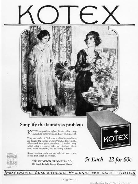 absorvente feminino kotex