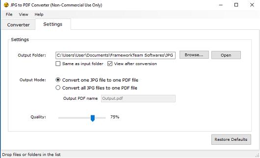 JPG to PDF Converter - Imagem 1 do software