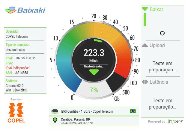 Teste de Velocidade do Baixaki - Imagem 1 do software