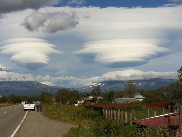 Nuvens estranhas