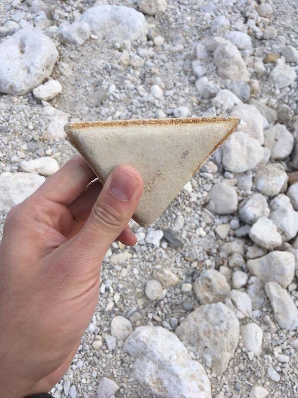Pedra igual a sanduíche