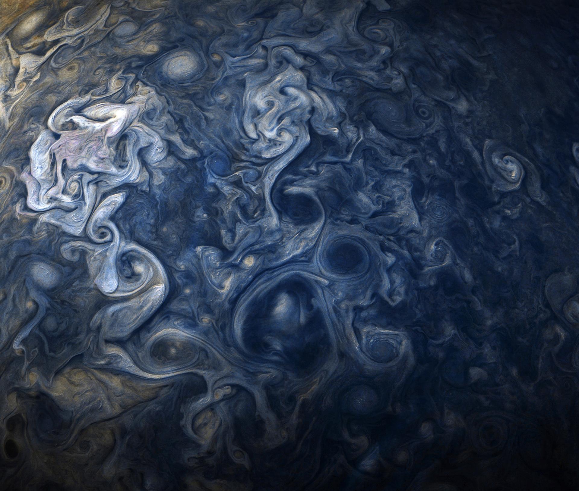 Foto da superfície de Júpiter