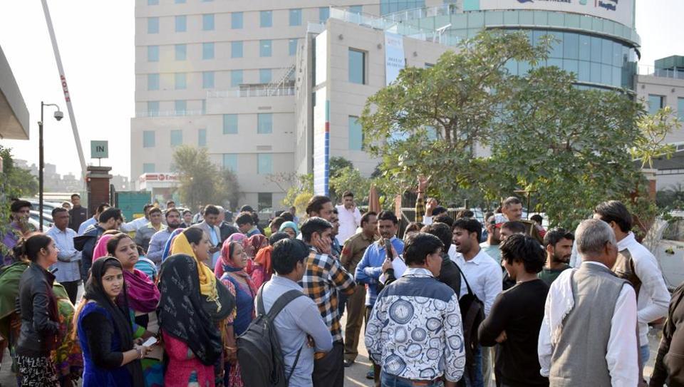 Protestos em Nova Delhi