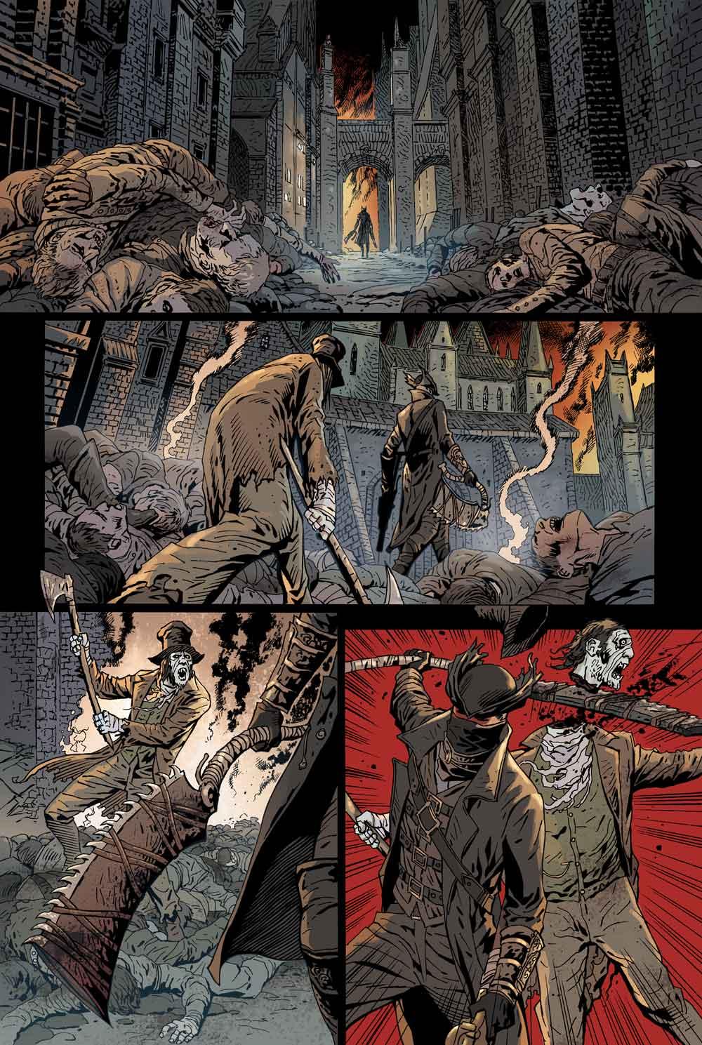 Veja a capa e algumas imagens do novo quadrinho de Bloodborne