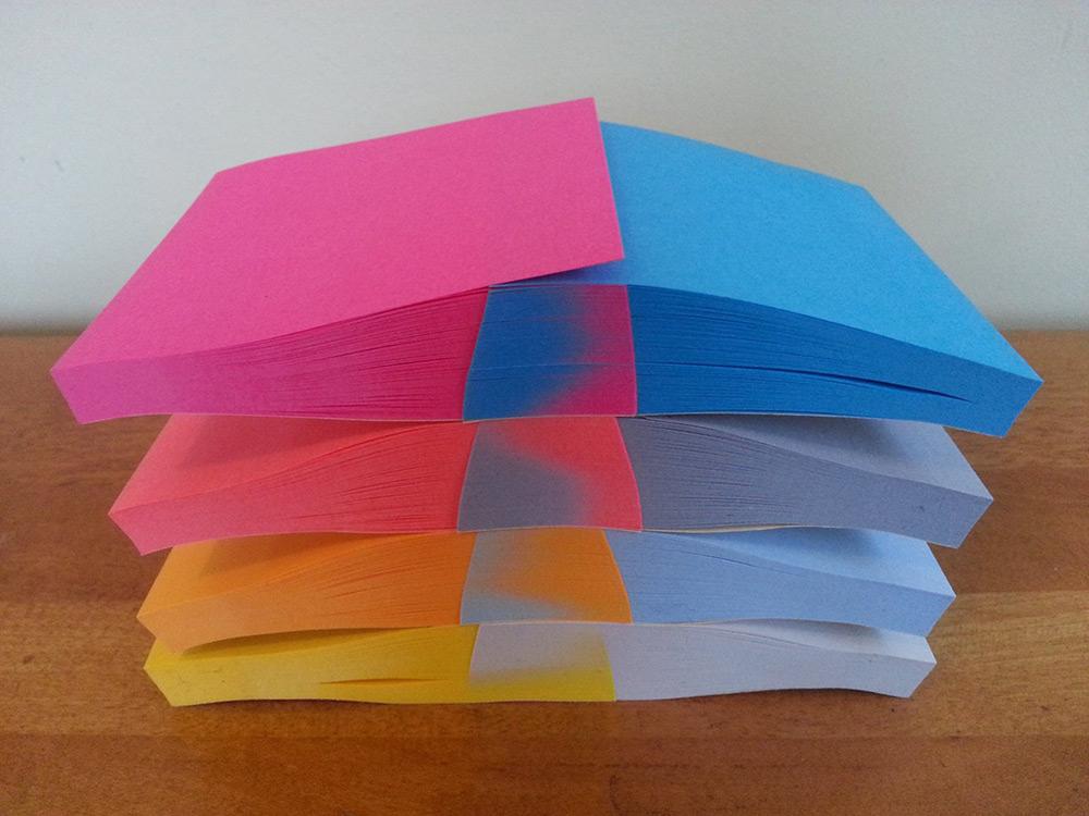 Pilhas de papel