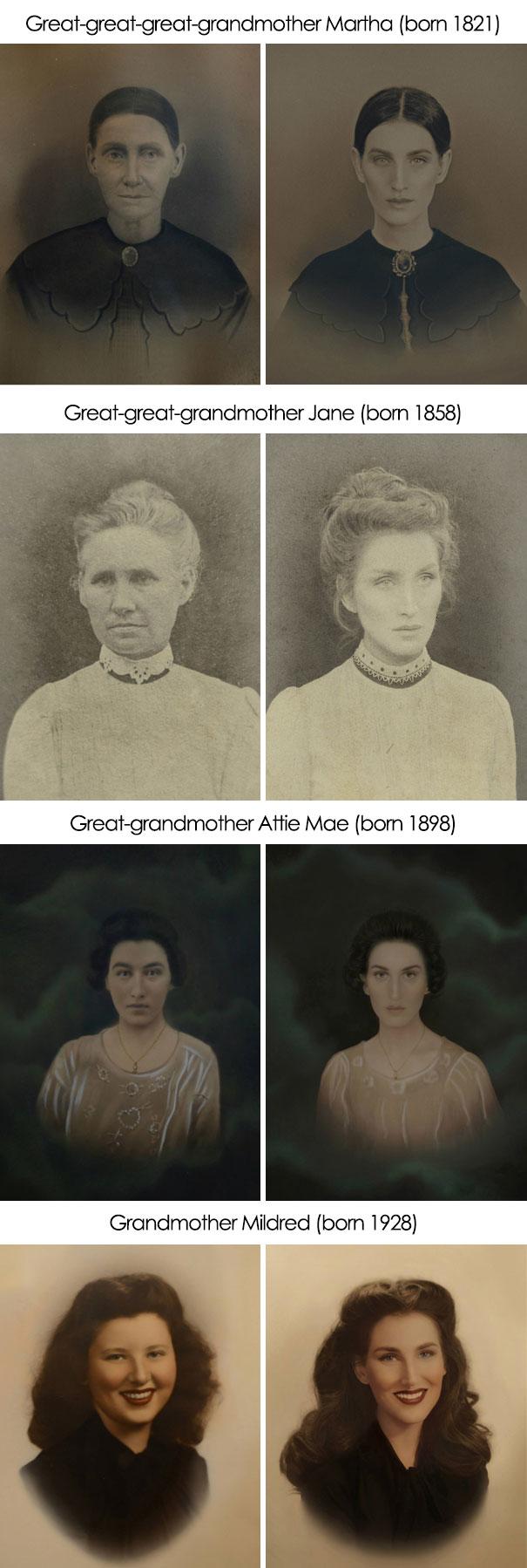 Recriando retratos
