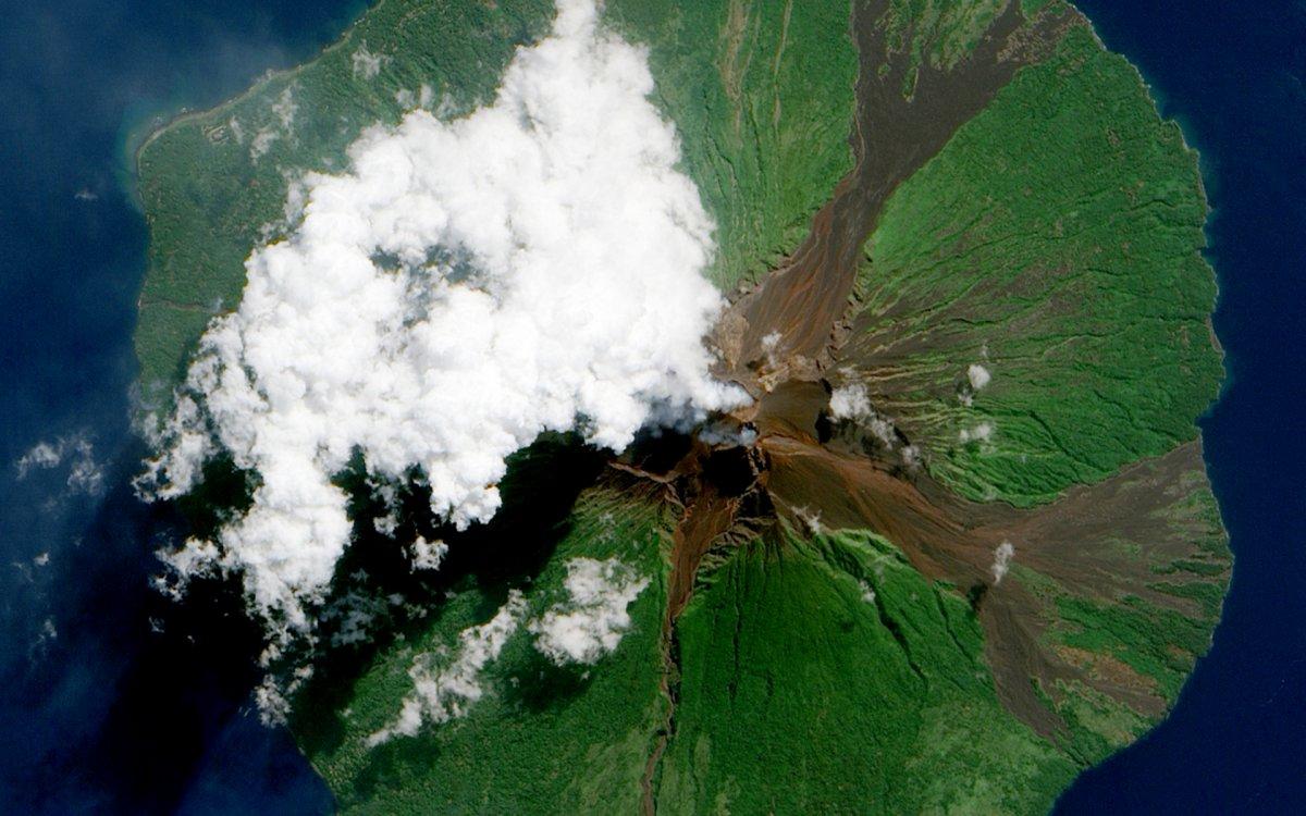 Vulcão visto do espaço