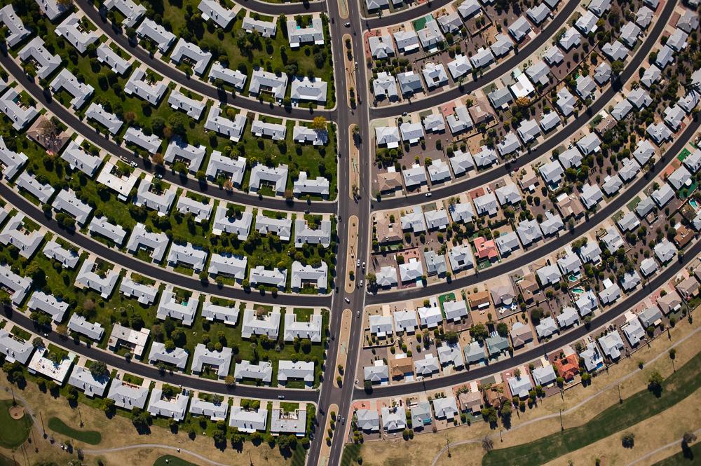 Vista aérea de condomínio