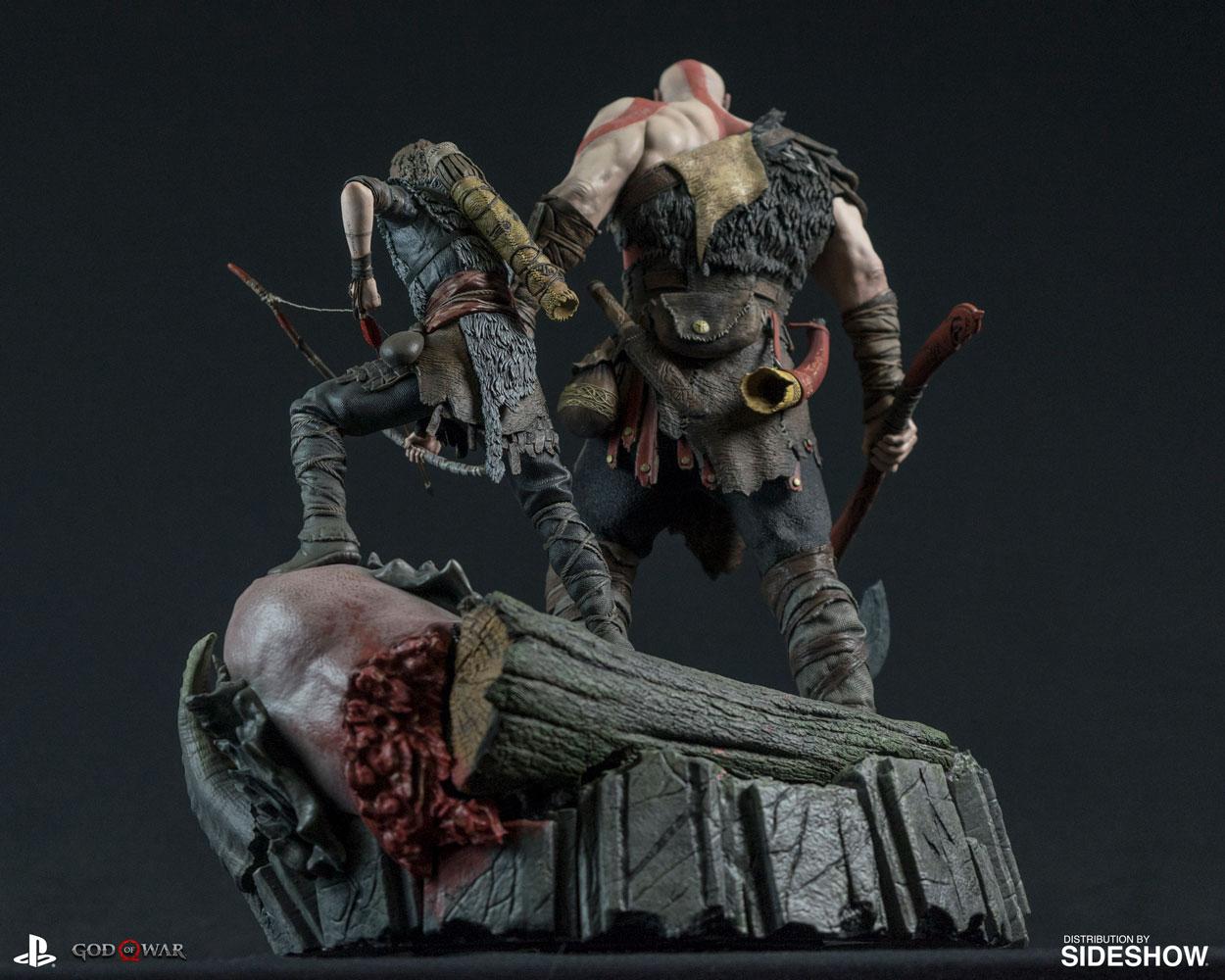Esta estátua de Kratos e Atreus é o presente que todo mundo gostaria de ter
