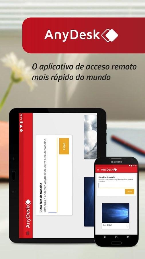 AnyDesk comando remoto de PC - Imagem 1 do software