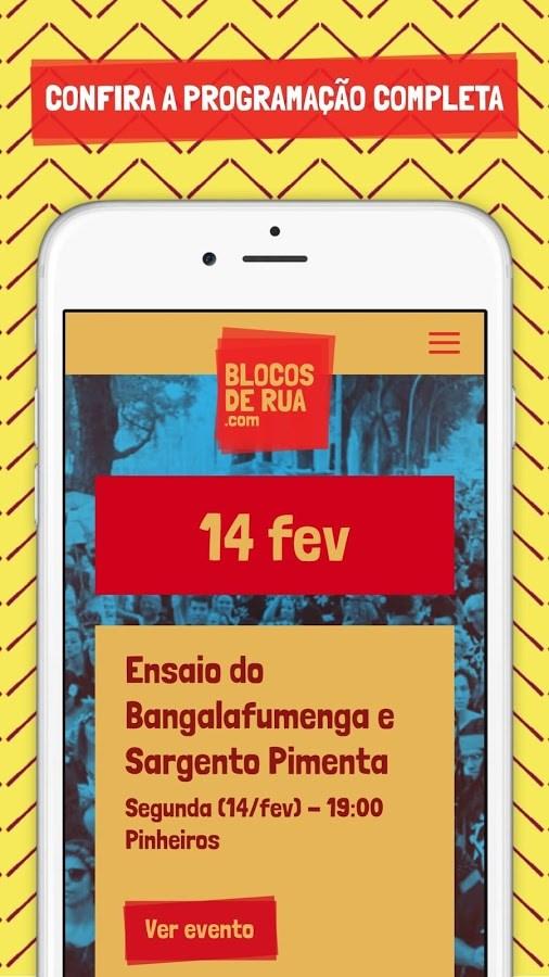 Blocos de Rua SP Carnaval 2018 - Imagem 1 do software