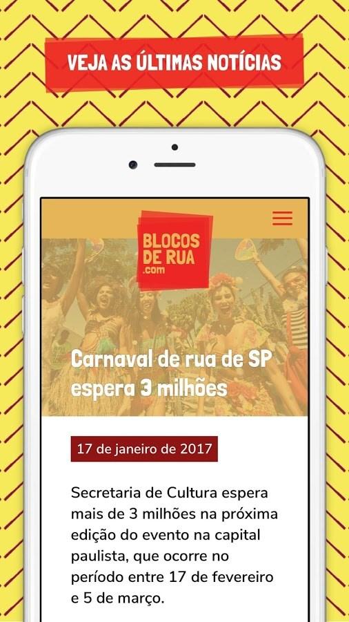 Blocos de Rua SP Carnaval 2018 - Imagem 2 do software