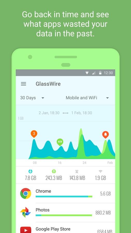 GlassWire - Data Usage Privacy - Imagem 1 do software