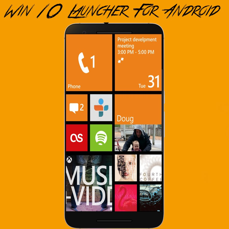 Win 10 Launcher para Android - Imagem 1 do software