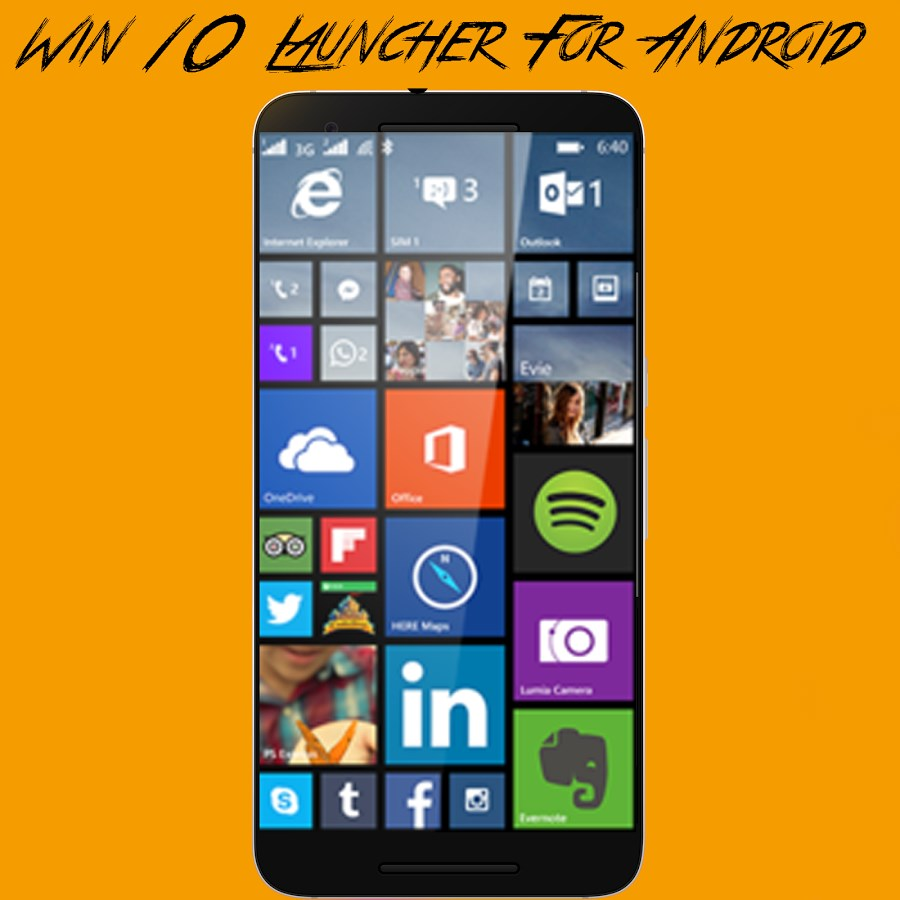 Win 10 Launcher para Android - Imagem 2 do software
