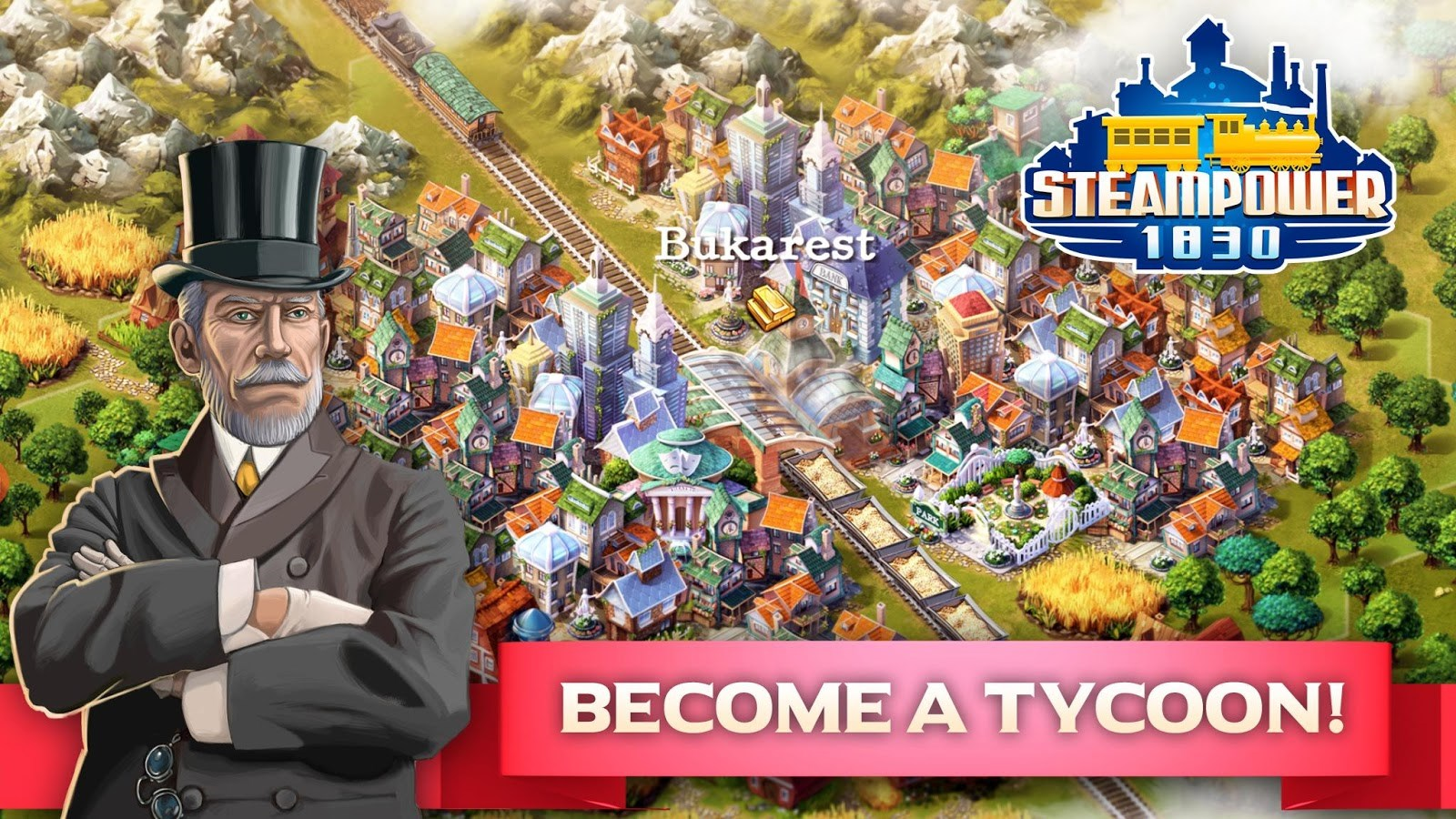 SteamPower 1830 Railroad Tycoon - Imagem 1 do software
