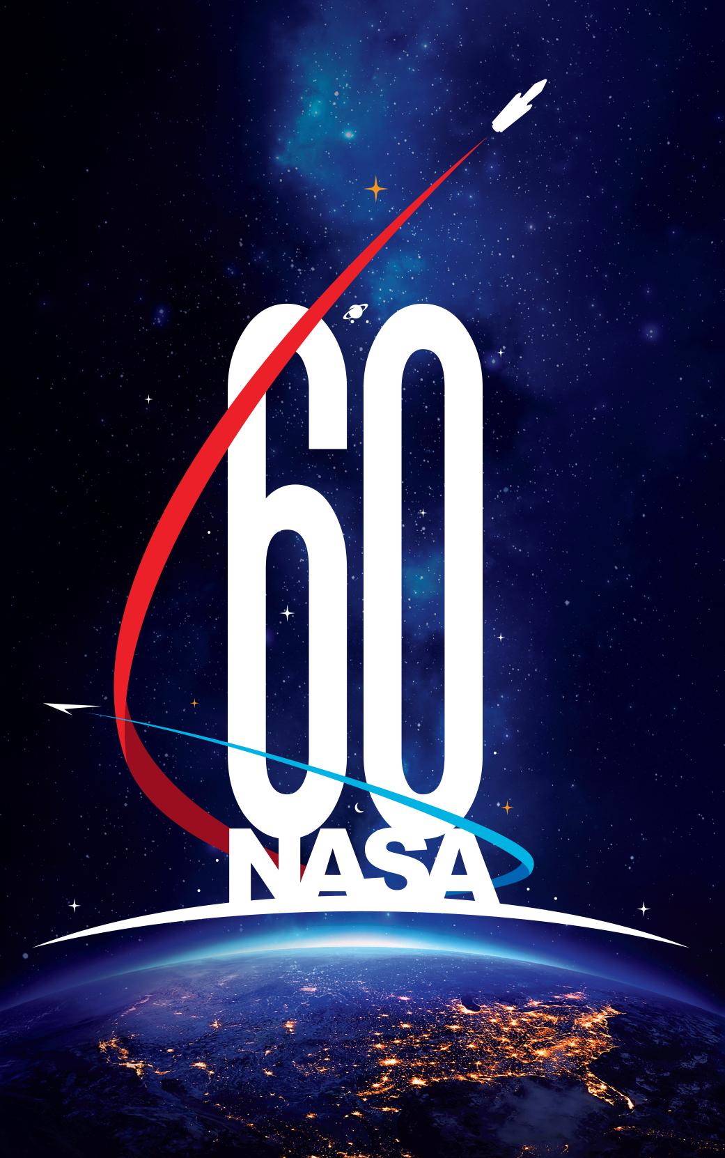 Logo de 60 anos da NASA