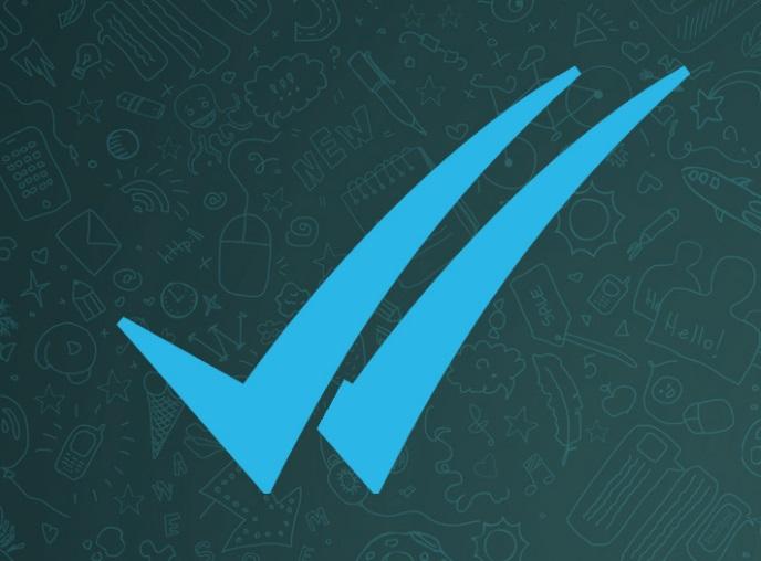Um ícone em azul.