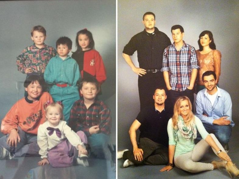 Eles cresceram