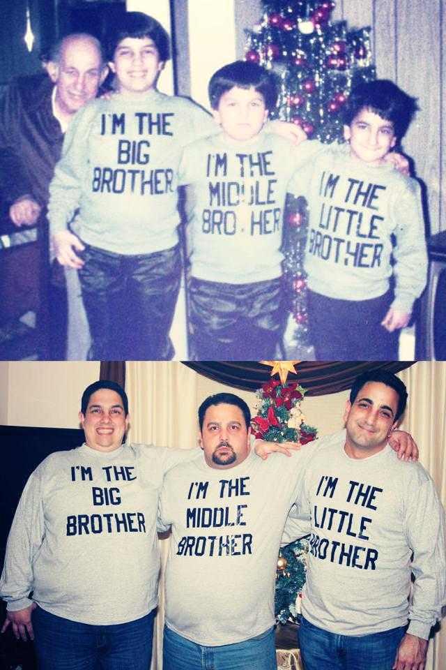 Irmãos posando juntos