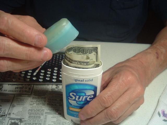 Camuflando dinheiro