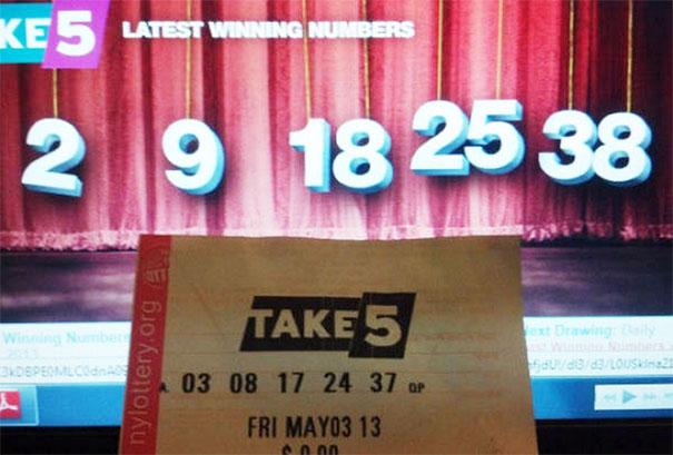 Números da loteria
