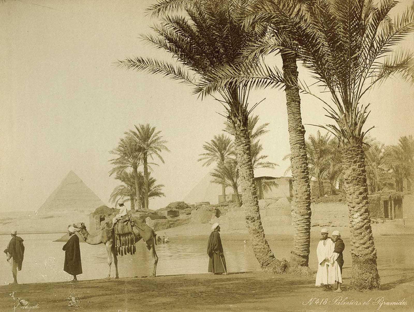 Vista das pirâmides