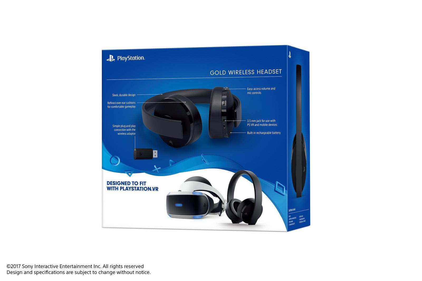 Sony revela novo modelo do headset Gold para PlayStation 4 e PS VR