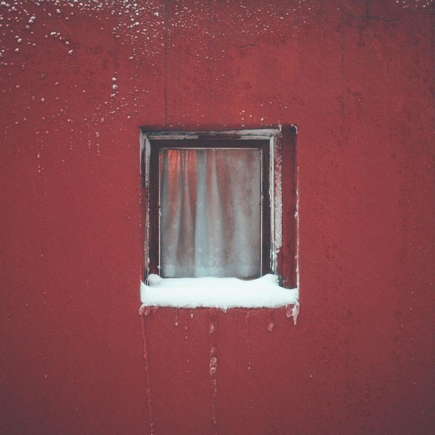 Janela com neve