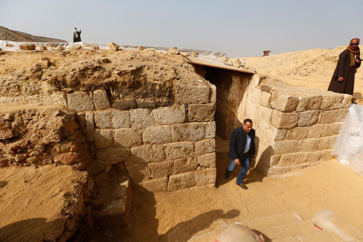 Entrada de tumba egípcia
