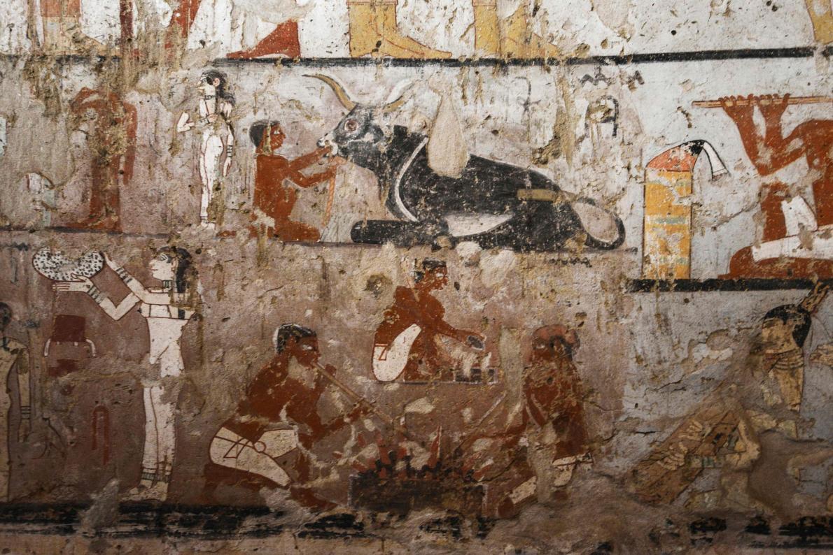 Interior de tumba egípcia