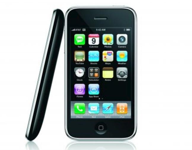 O iPhone 3G.