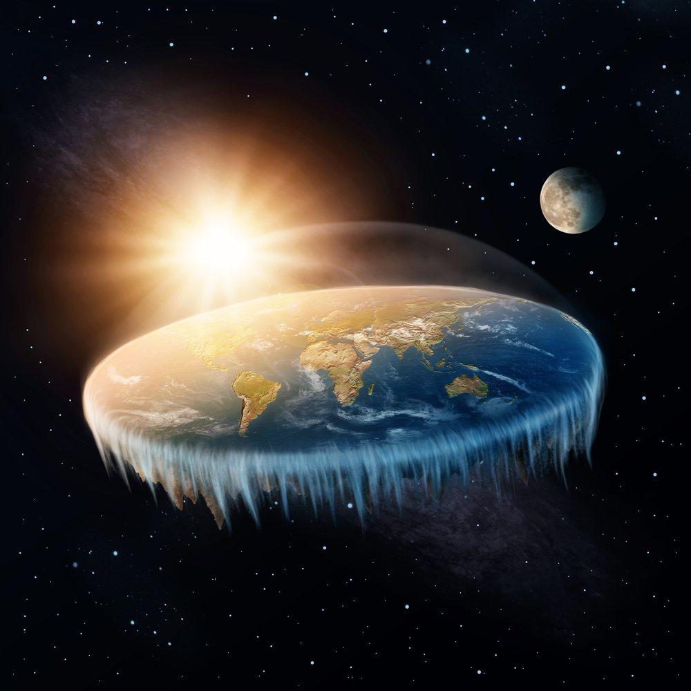 Ilustração da Terra plana