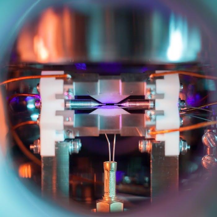 Foto de um átomo