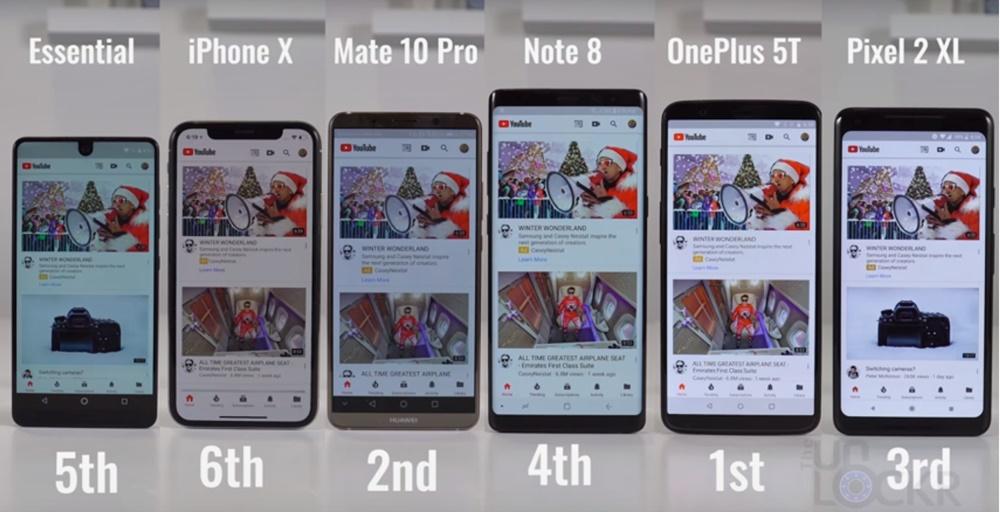 youtube teste smartphone