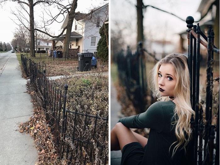 Duas fotos.