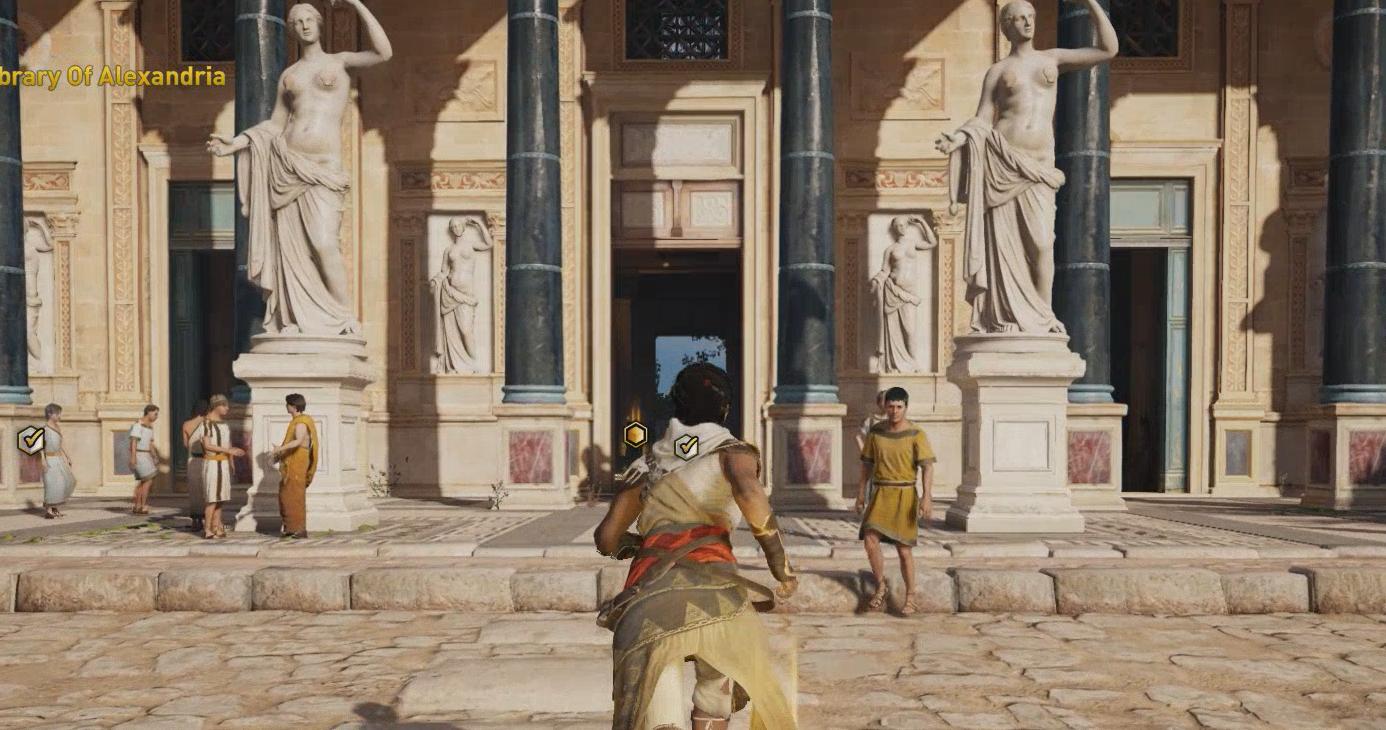 Estátuas nuas de Assassin's Creed Origins têm censura em partes íntimas