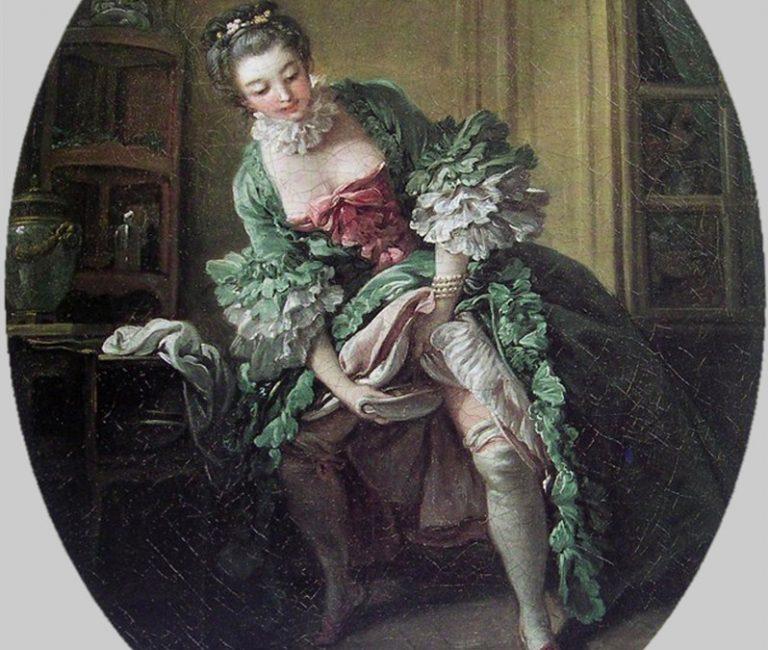 Mulher usando penico