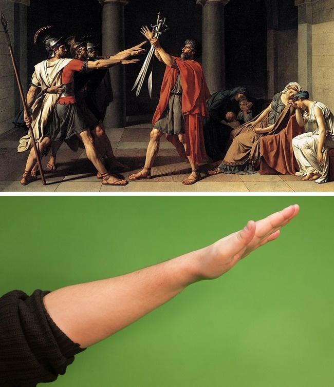 saudação romana nazista