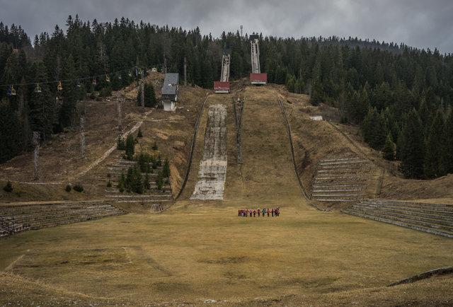 Trampolim para salto de esqui