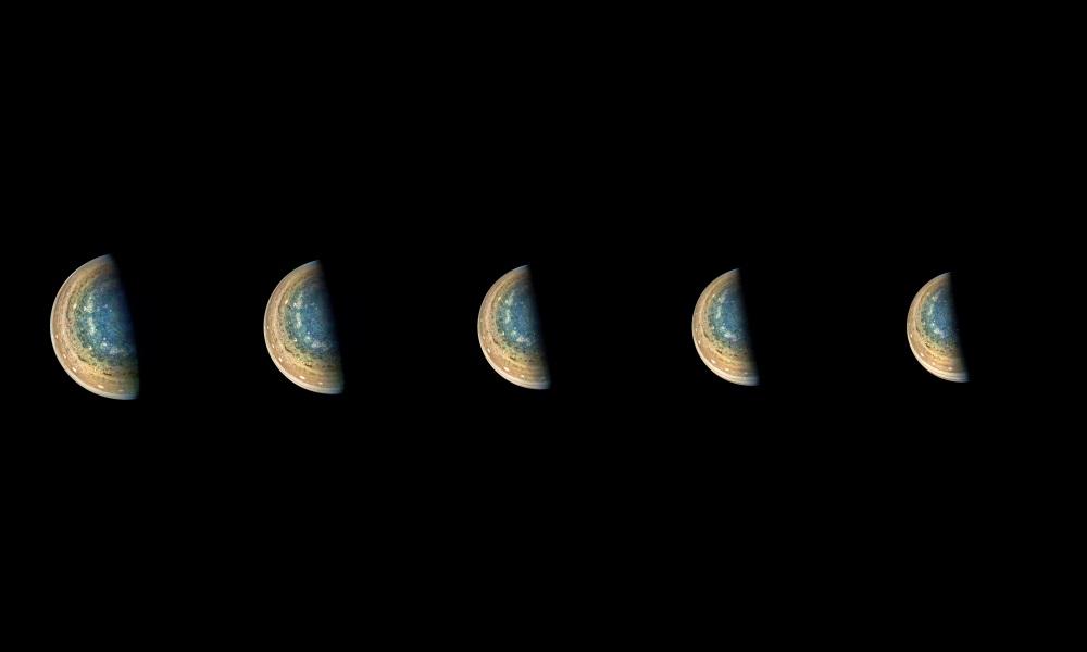 Polo Sul de Júpiter