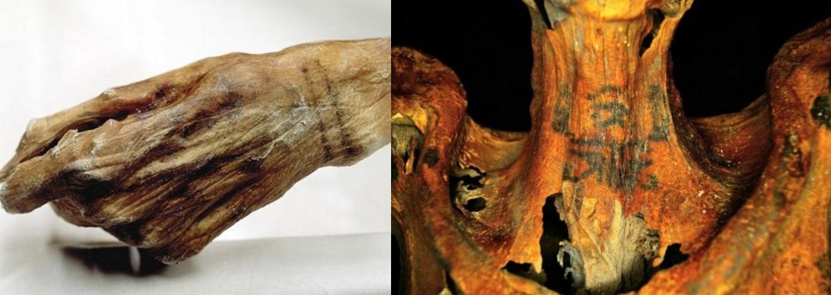 Otzi e múmia egípcia