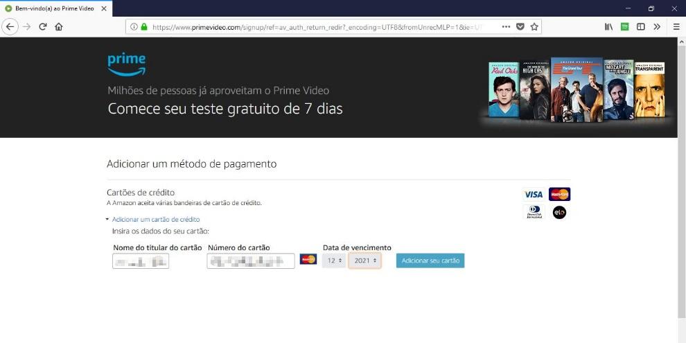 Aprenda a criar uma conta na Amazon Prime Video com 7 dias