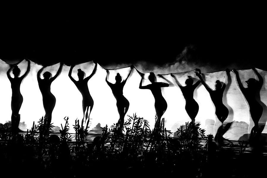 Silhuetas de dançarinas